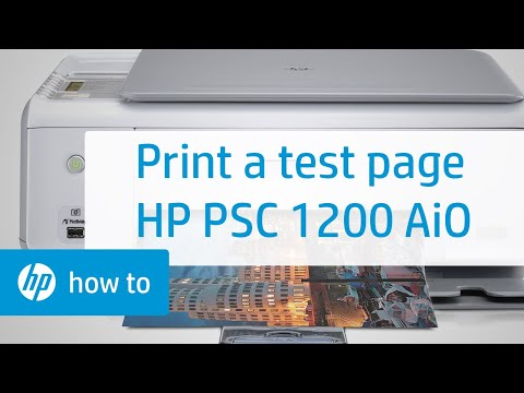 Printing A Test Page | HP PSC 1200 All-in-One Printer | HP