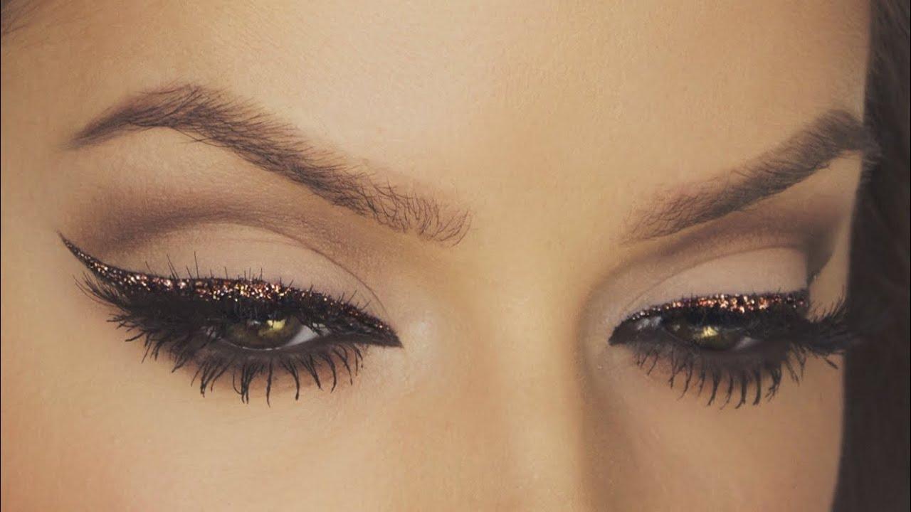Αποτέλεσμα εικόνας για Glittery Eyeliner instagram