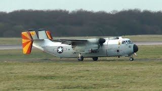 London Stansted Airport, Northrop Grumman C-2A Greyhound, March 2015