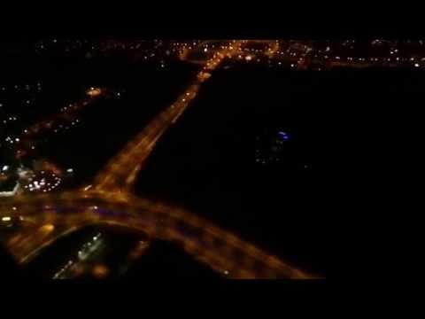 Madrid Barajas - landing at night