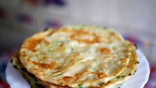 Лепешки с зеленым луком. Катлама