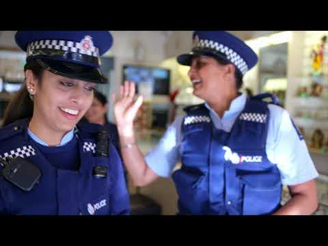Policewomen on Namaste New Zealand