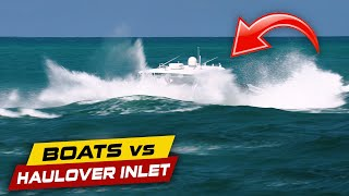 CAPTAIN ERROR AND BOAT GOES UNDER!! | Boats vs Haulover Inlet