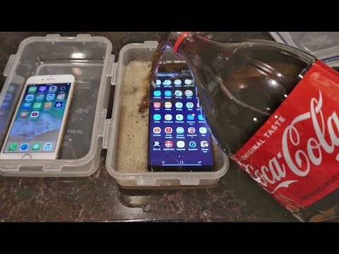 iPhone 8 vs Galaxy Note 8 - Coke Freeze Test 16 Hours! Survive or RIP?!