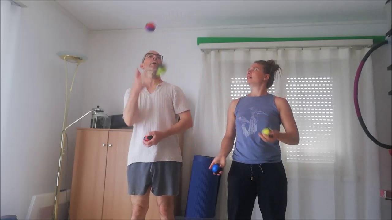 Jonglage Training mit Melanie Schütz