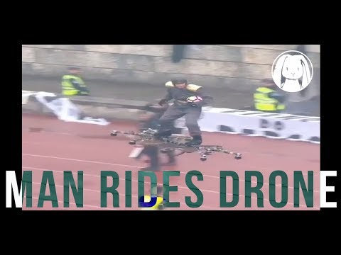 Man rides DRONE to deliver game ball at Portuguese Cup final match