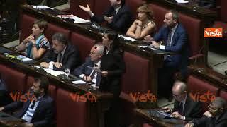 """Caos della Lega mentre parla Laura Boldrini, Fico: """"Spettacolo inutile, Presidente vada avanti"""""""
