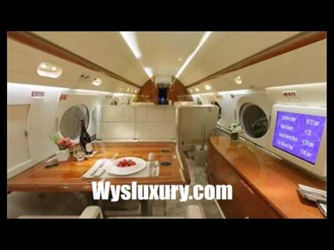 Gulfstream 5 private Jet Charter Flight Service Inside Interior