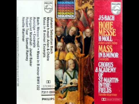Bach / Marshall / Baker / Tear, 1978: Mass in B minor,  BWV 232 - Marriner (Excerpts, Indexed)