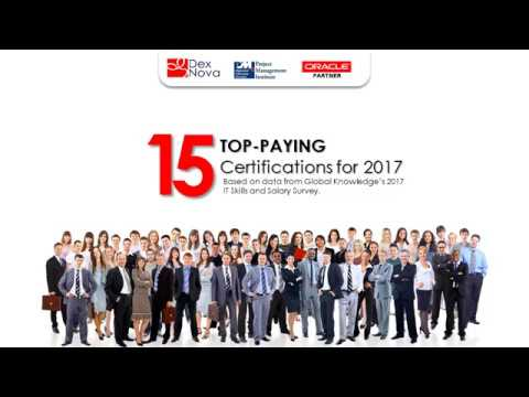 15 TOP PAYING CERTIFICATIONS 2017 - YouTube