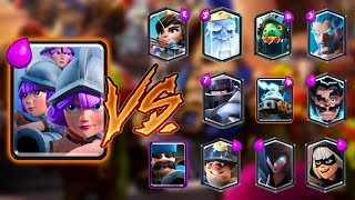 THREE MUSKETEER VS ALL CARDS IN CLASH ROYALE | THREE MUSKETEER 1 ON 1 GAMEPLAY