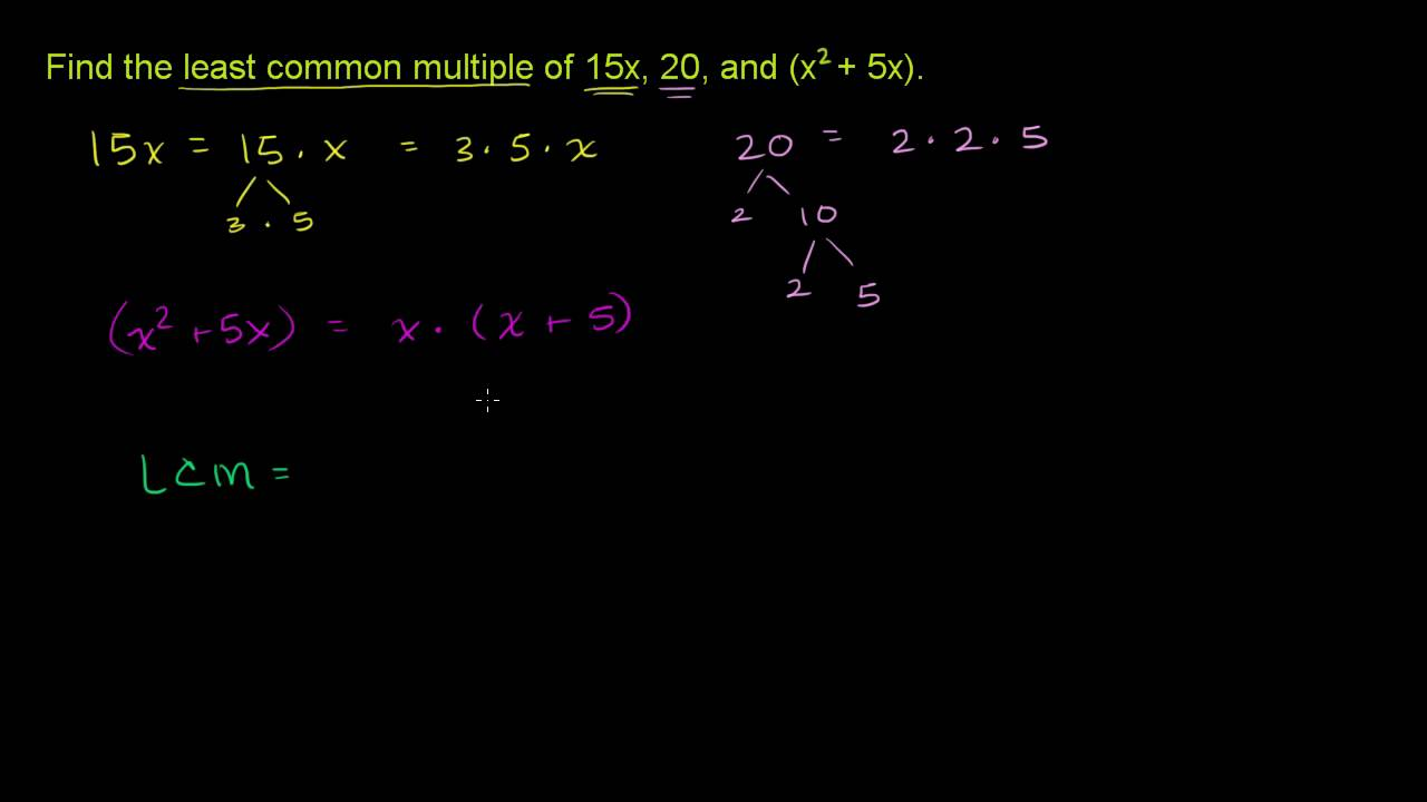 Algebraic Expression Least Common Multiple Youtube