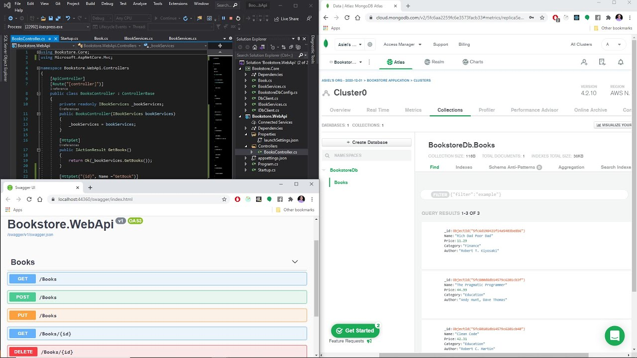 Building a Web API for a Simple Bookstore Using ASP.NET Core 5.0 and MongoDB