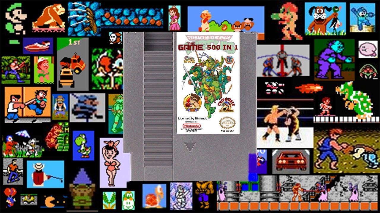 500 in 1 Multicard Nintendo NES Modul - YouTube