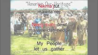 Honor Song of the Mi'kmaq (Sing-along)