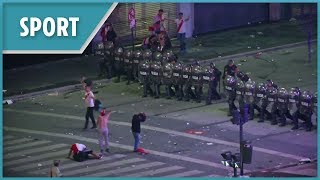 Violent scenes after River Plate beat Boca Juniors in Copa Libertadores final
