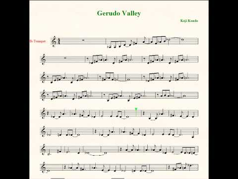 Gerudo Valley Trumpet Sheet Music