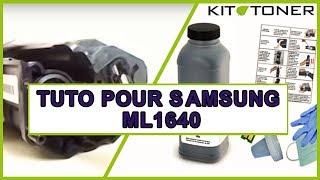 Instructions pour la recharge toner compatible de la Samsung ML1640