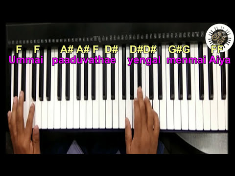 Parisutharea Engal iyeasu deva SONG IN KEYBOARD, LEAD, WITH NOTES 2