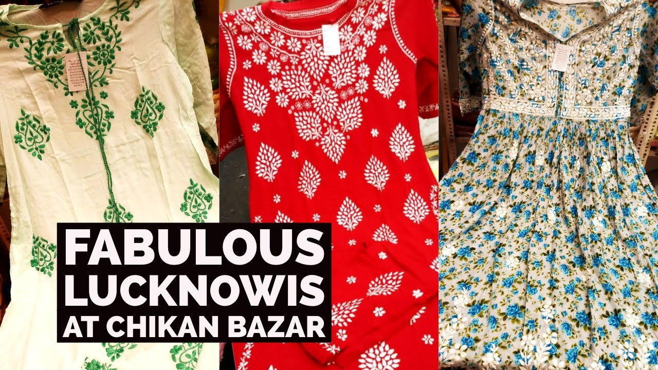 Super Fancy Chikankari Kurtis, Gowns at Chikan Bazar. 1 Piece Also Available. 8174829500, 7985238593