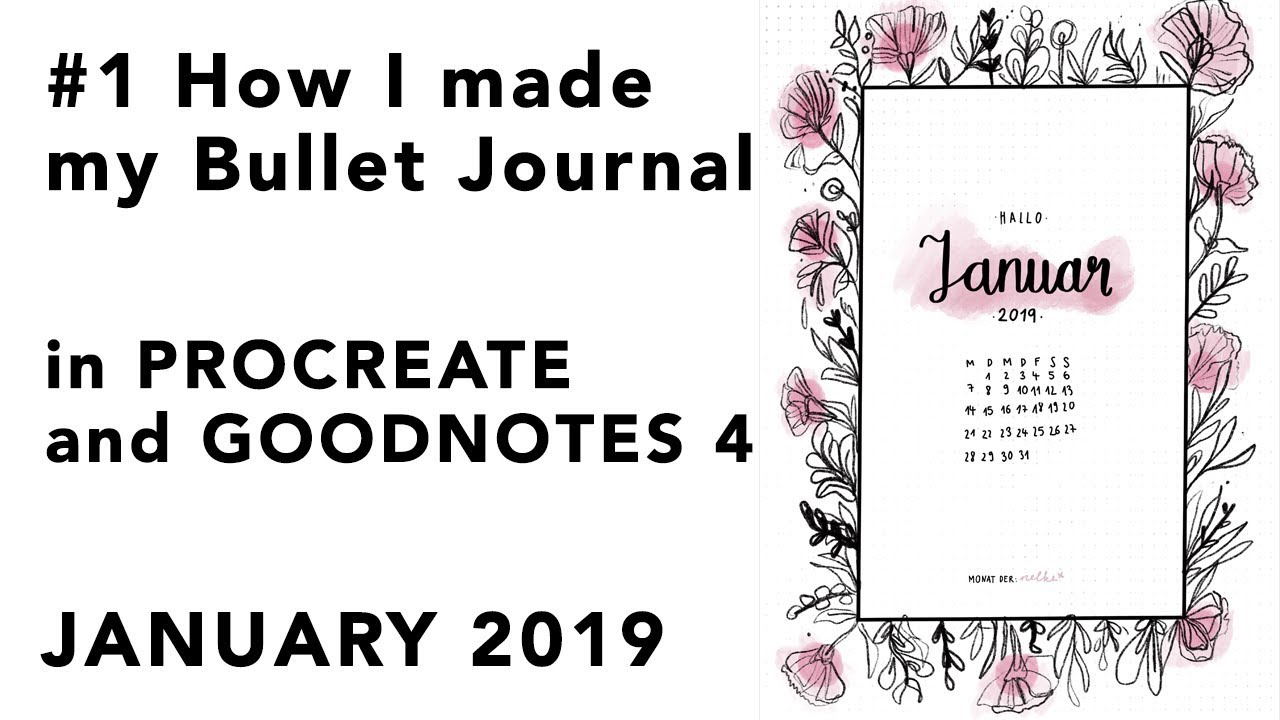 1 how i made my bullet journal on procreate and good notes 4
