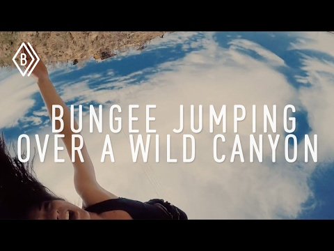Bungee jumping over a wild canyon in Cabo - Ep 1/4