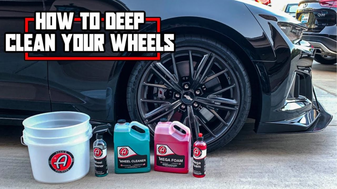 [ You ASKED for it ] How to CLEAN Your wheels- in Tight Areas included - Adams Polishes - CAMARO ZL1