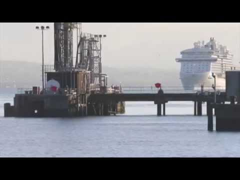 Royal Princess arriving into Belfast Harbour- August 2015