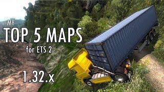 TOP 5 MAP MODS - ETS 2 - 1.32.x