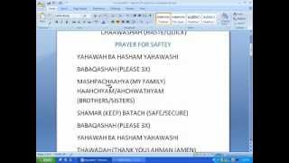 QUICK AND BASIC PRAYERS BAHA LASHAWAN QADASH