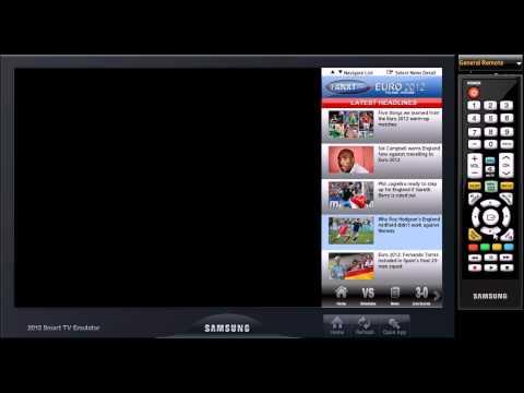 Euro 2012 TV App for Samsung Smart TV