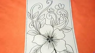 Cara Menggambar Batik Motif Bunga #32