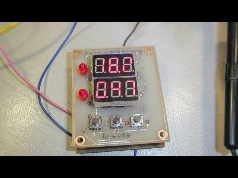 вольтамперметр на ATMEGA8 и сегментных индикаторах