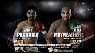 Floyd Mayweather vs Manny Pacquiao Fight Night Champion Prediction