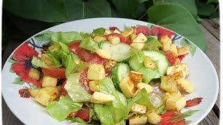 Салат с жареным кабачком и помидорами- Оочень вкусный/Salad with grilled zucchini and tomatoes