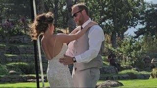 Wedding party flees wildfire