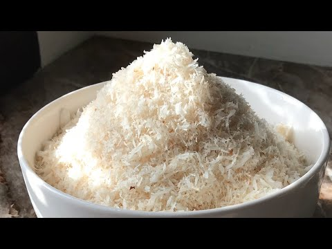 Homemade desiccated coconut recipe how To Make desiccated coconut At Home