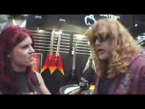 Dave Mustaine Of Megadeth Dean Guitars NAMM 2008