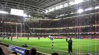 Wales V England 04.02.11 - Millennium Stadium, Hymns and Arias, crowd warm up