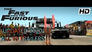 Fast & Furious: All Official Trailers HD! (1,2,3,4,5,6,7,8,Hobbs,9) UPDATED 2020