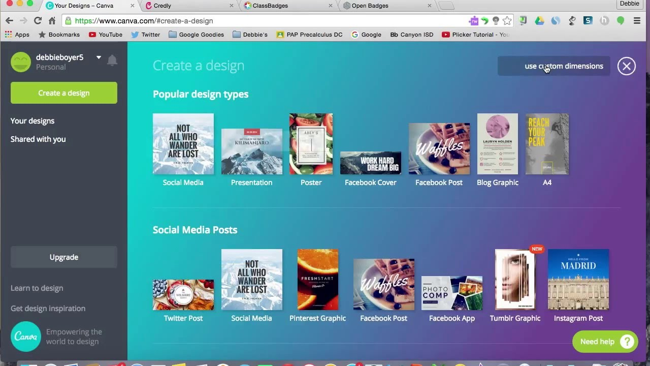 Canva for Creating Badges