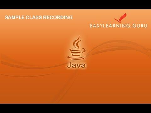 Java Tutorial for Hadoop Beginner | Java tutorial |EasyLearning Guru