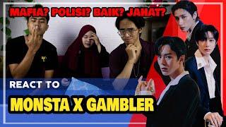 Download lagu REACT TO MONSTA X 몬스타엑스 'GAMBLER' MV