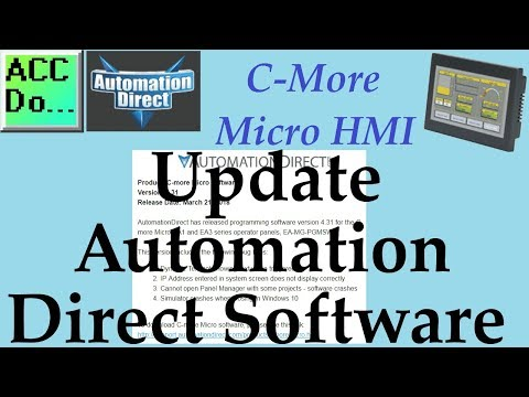 Update Automation Direct Software C More Micro Software - YouTube