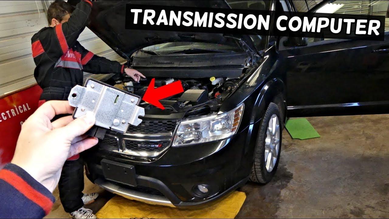 DODGE JOURNEY TCM TRANSMISSION CONTROL MODULE COMPUTER LOCATION  REPLACEMENT  FIAT FREEMONT