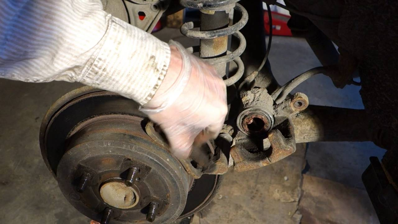 Toyota Brake Pads >> How to replace rear brake pads and disc Toyota Corolla ...