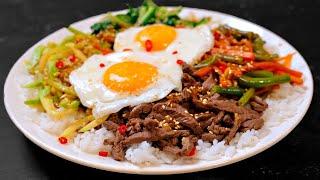 Повторил блюдо из доставки - ПИБИМПАП корейская штука