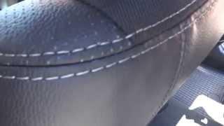 видео Чехлы Тойота Авенсис (ЭКОкожа + перфорация) чёрный