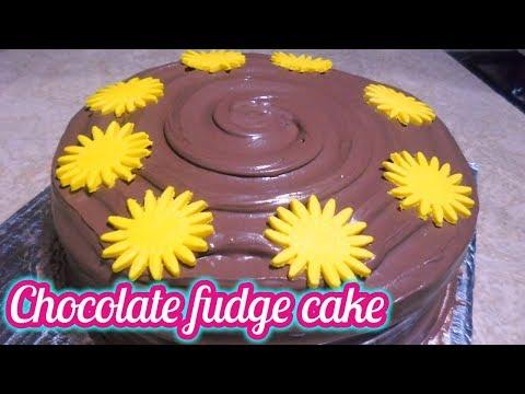 Chocolate Fudge Cake_How To Make Chocolate Fudge Cake_Double Chocolate Fudge Cake Recipe