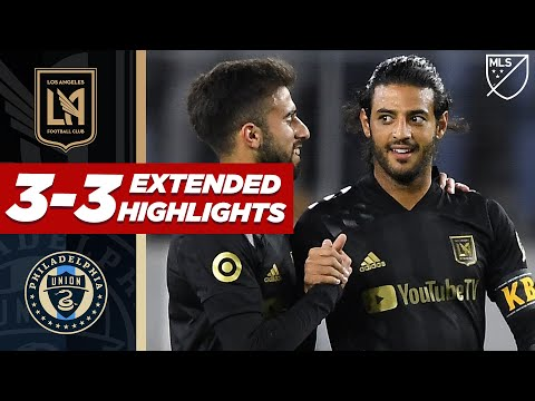 LAFC 3-3 Philadelphia Union | Carlos Vela & Jakob Glesnes' Sublime Free Kicks! | MLS HIGHLIGHTS